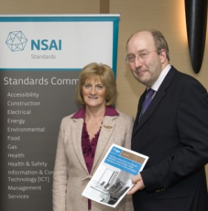 Ms. Nora Byrne, Calmar and Mr. Maurice Buckley, CEO, NSAI pictured at the launch of the ISO Standard 29990